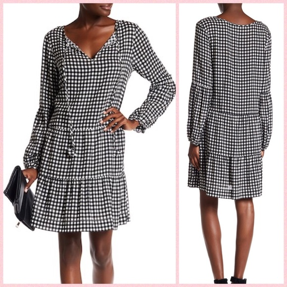 d1f3f87661 Sanctuary Britt Gingham Tiered Drop Waist Dress
